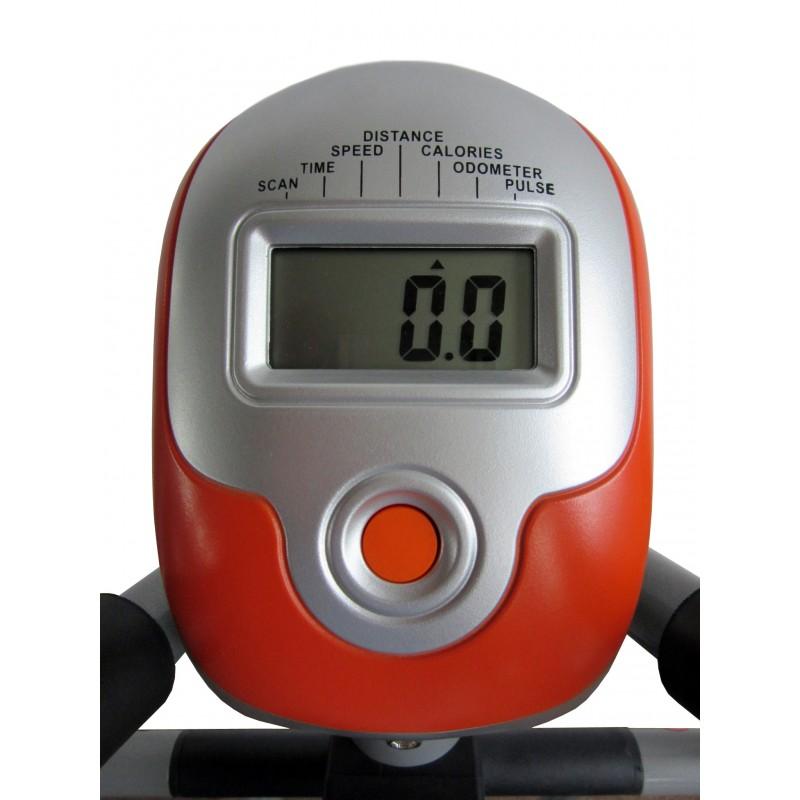 Las bicicletas elipticas tienen incorporadas una pantalla LCD con información fundamental sobre el ejercicio fisico realizado